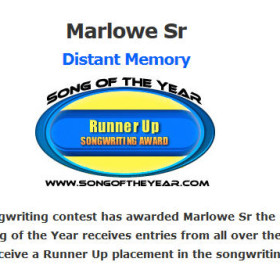 Distant Memory wins Runner Up in Songwriting Contest